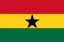 GHANA - HAND WAVING FLAG (MEDIUM)